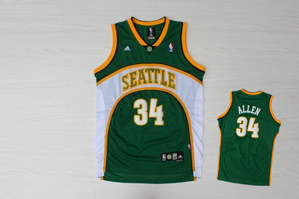 Supersonics 34 Allen Green New Revolution 30 Jerseys