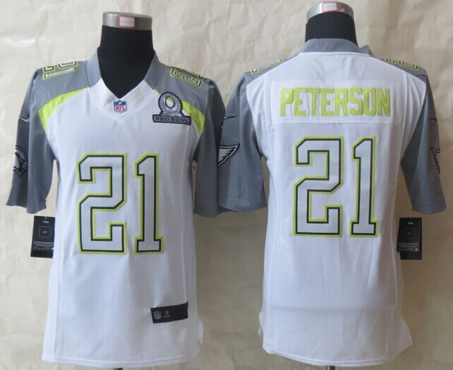 Nike Cardinals 21 Peterson White 2015 Pro Bowl Game Jerseys