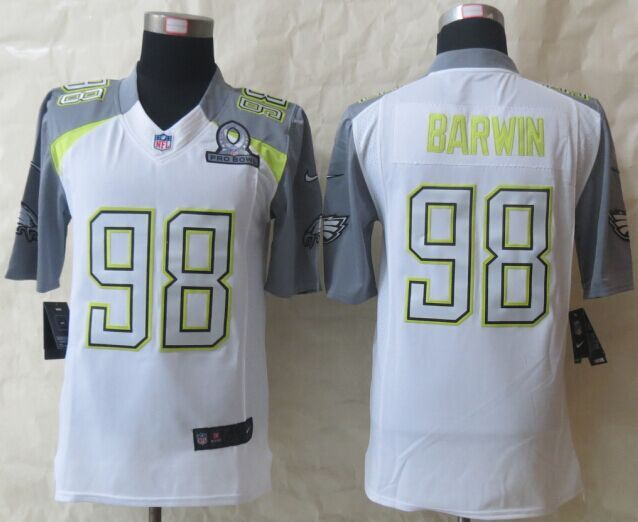Nike Eagles 98 Barwin White 2015 Pro Bowl Game Jerseys