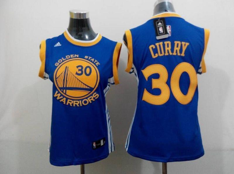 Warriors 30 Curry Blue Women Jersey