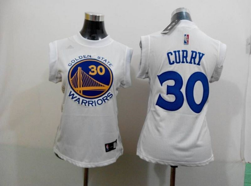 Warriors 30 Curry White Women Jersey