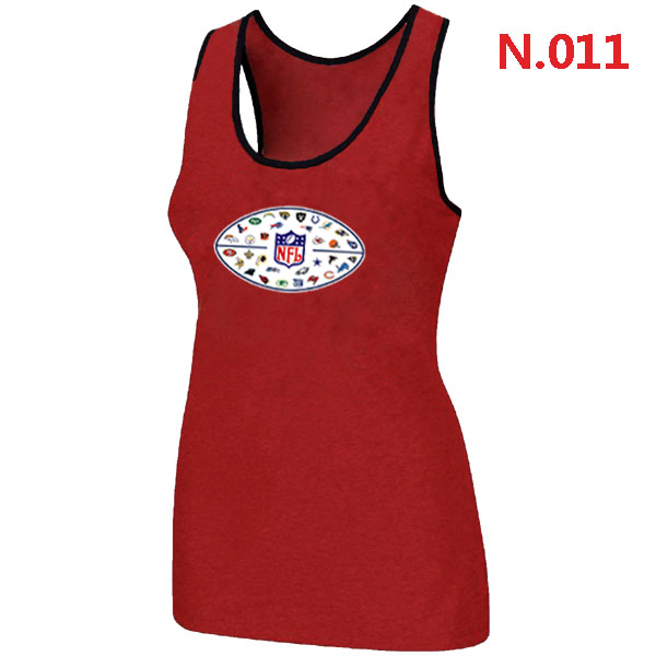 NFL 32 Teams Logo Collection Locker Room Women Tank Top Red