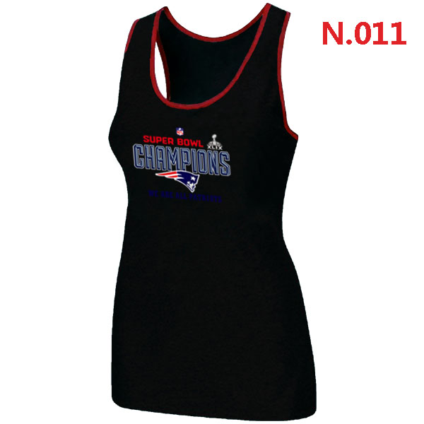 New England Patriots Majestic Black Super Bowl XLIX Women Tank Top