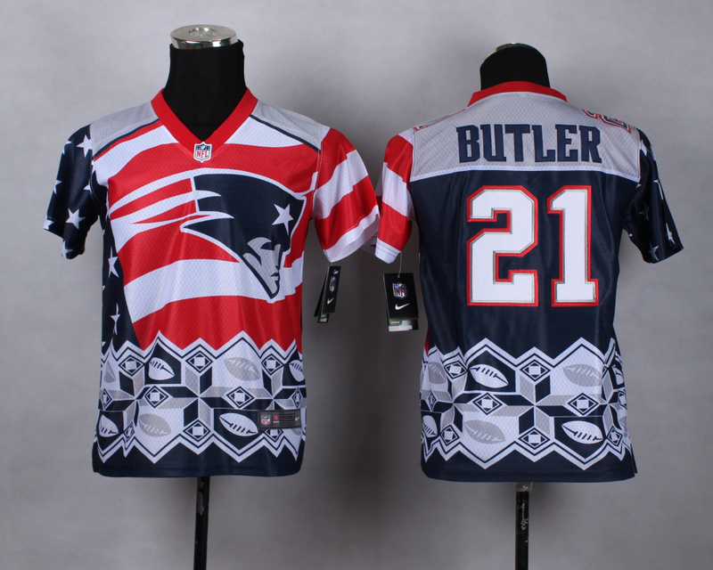 Nike Patriots 21 Butler Noble Fashion Youth Jerseys