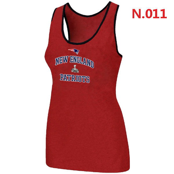 Patriots Majestic Super Bowl XLIX Bound Heart & Soul Women Tank Top Red