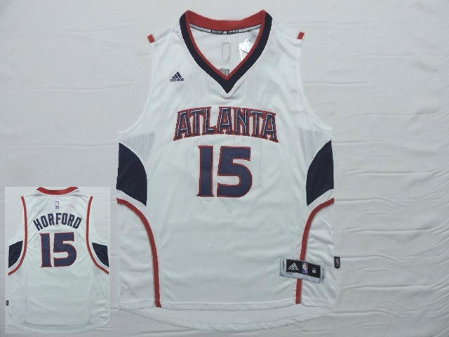 Hawks 15 Horford White New Revolution 30 Jersey