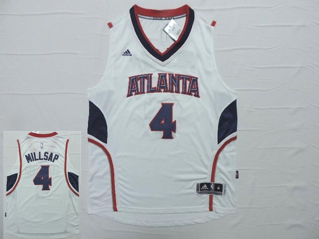 Hawks 4 Paul Millsap White New Revolution 30 Jersey