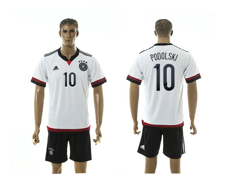 2015-16 Germany 10 Podolski Home Jersey