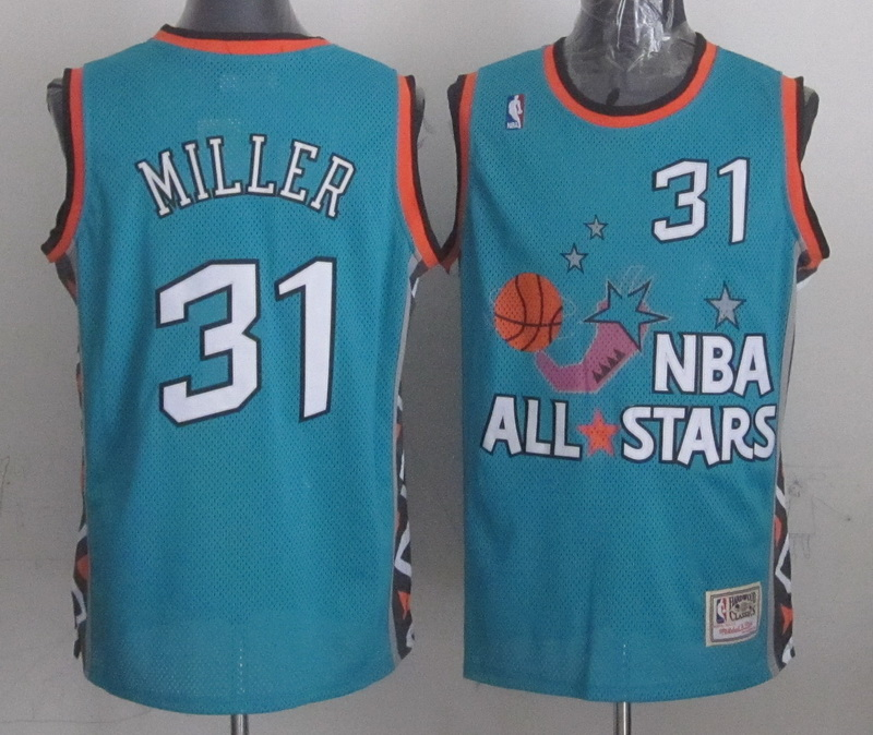 1996 All Star 31 Miller Teal Jerseys