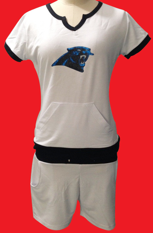 Nike Panthers White Women Sport Suits