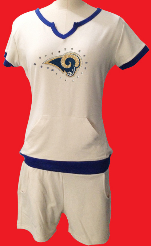 Nike Rams White Women Sport Suits