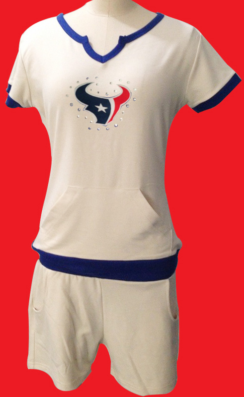 Nike Texans White Women Sport Suits