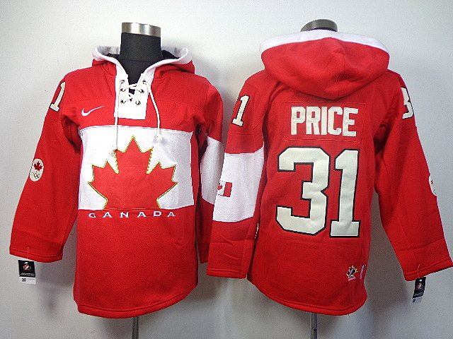 Canada 31 Price Red 2014 Olympics Hooded Jerseys
