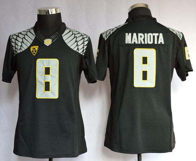 Oregon Duck 8 Mariota Black Limited Women Jerseys