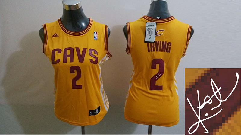 Cavaliers 2 Irving Yellow Signature Edition Women Jerseys