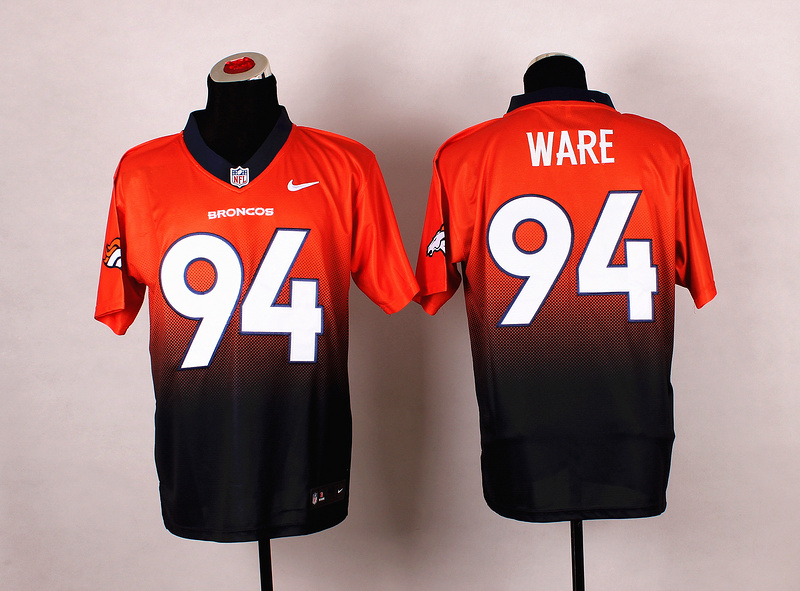 Nike Broncos 94 Ware Orange And Black Drift II Elite Jerseys