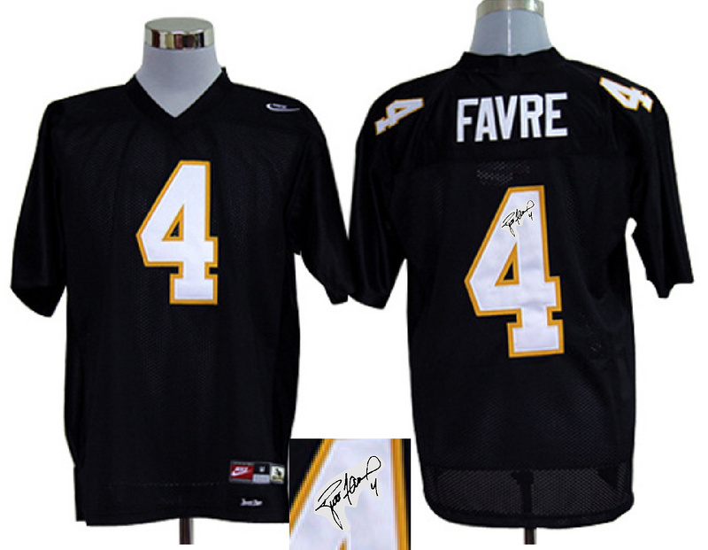 Southern Mississippi Golden Eagles 4 Favre Black Signature Edition Jerseys