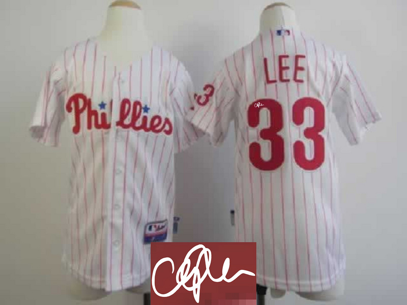 Phillis 33 Lee White Signature Edition Youth Jerseys