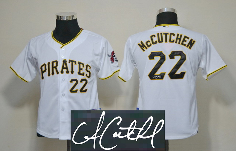 Pirates 22 Mccutchen White Signature Edition Youth Jerseys