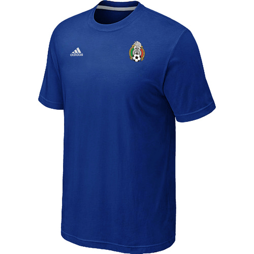 Adidas National Team Mexico Men T-Shirt Blue