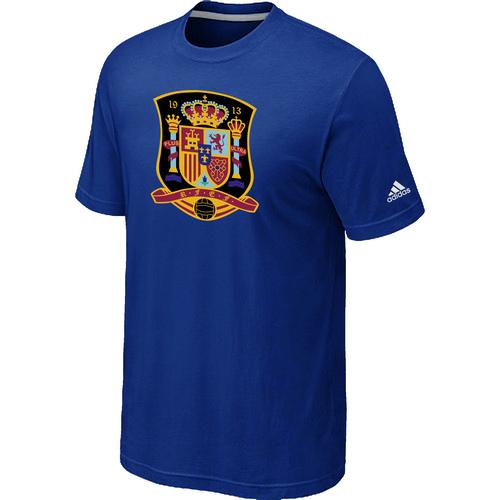 Adidas National Team Spain Big & Tall Men T-Shirt Blue