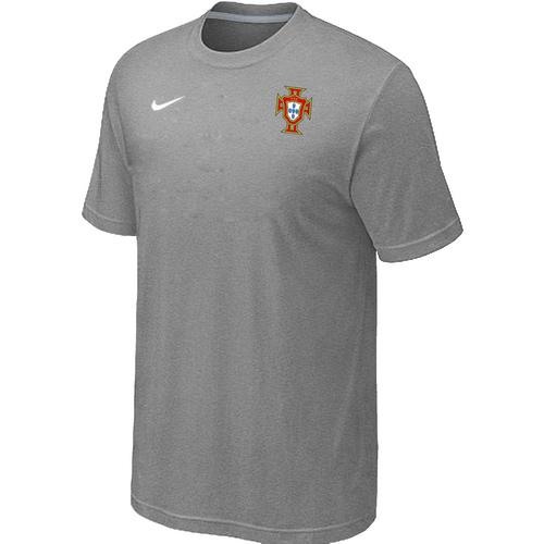 Nike National Team Portugal Men T-Shirt L.Grey