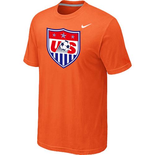 Nike National Team USA Big & Tall Men T-Shirt Orange