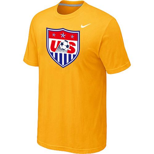 Nike National Team USA Big & Tall Men T-Shirt Yellow
