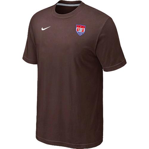 Nike National Team USA Men T-Shirt Brown
