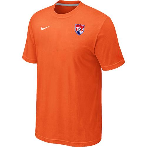 Nike National Team USA Men T-Shirt Orange