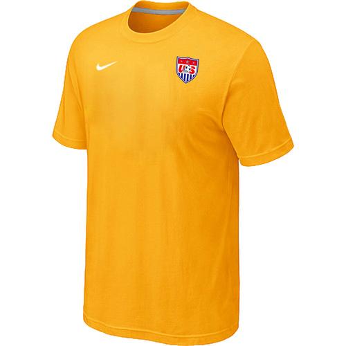Nike National Team USA Men T-Shirt Yellow
