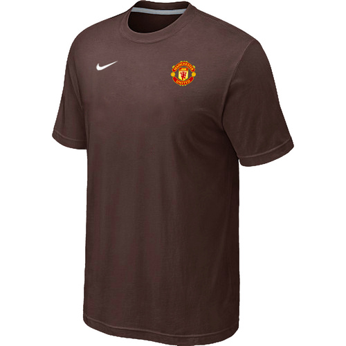 Nike Club Team Manchester United Men T-Shirt Brown