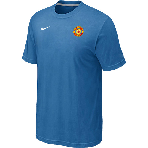 Nike Club Team Manchester United Men T-Shirt L.Blue