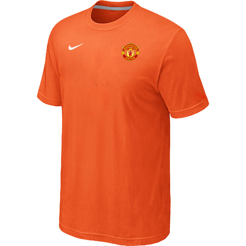 Nike Club Team Manchester United Men T-Shirt Orange
