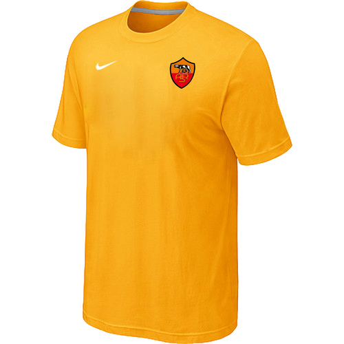 Nike Club Team Roma Men T-Shirt Yellow