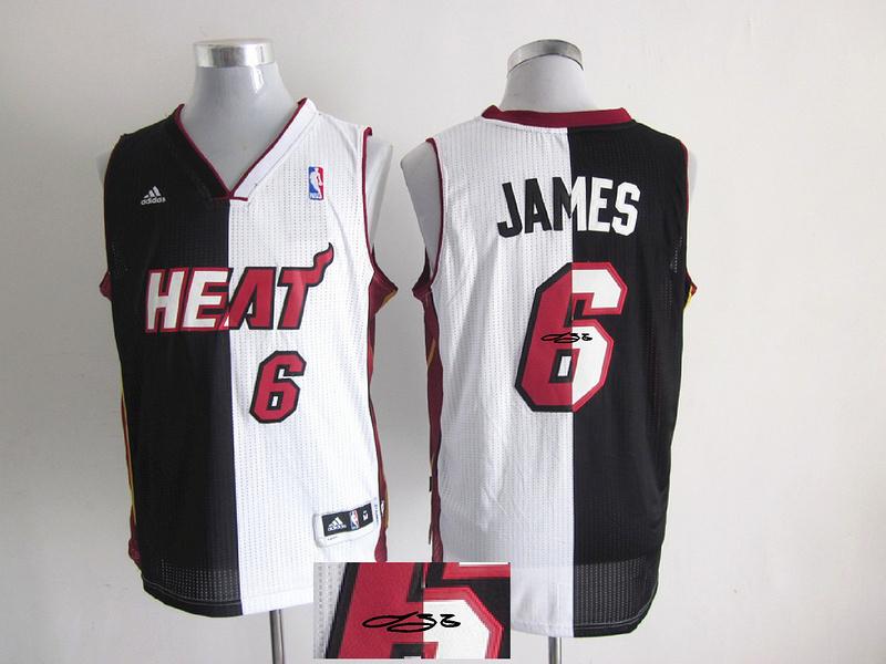 Heat 6 James White & Black Split Signature Edition Jerseys