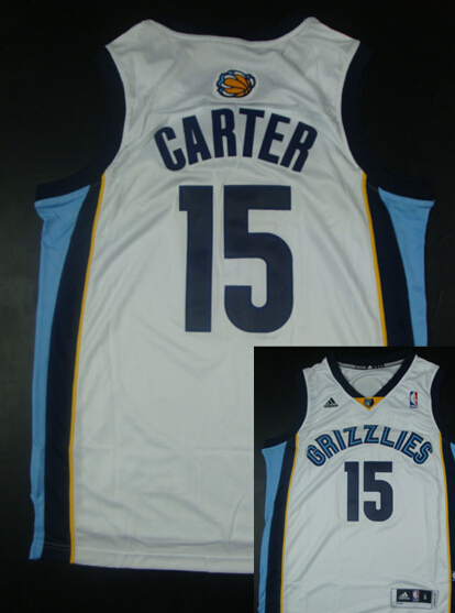 Grizzlies 15 Carter White New Revolution 30 Jerseys